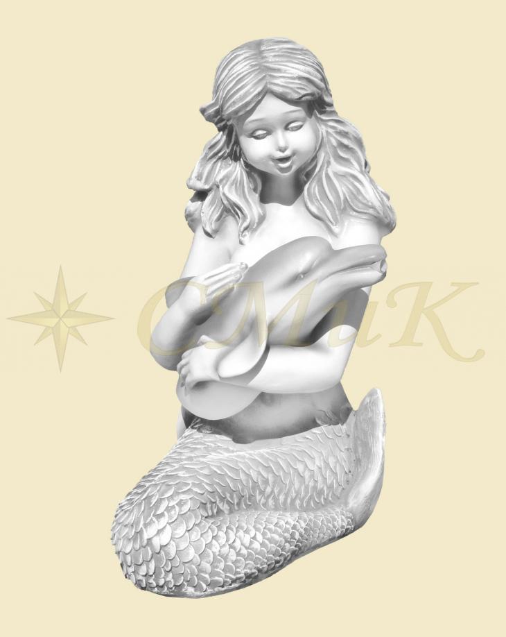 Декоративная скульптура для фонтана Русалка с дельфином ...
